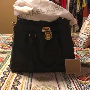 Michael Kors navy leather purse
